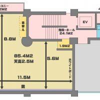 東京 品川 レンタルスタジオ TOKYO GATE STUDIO の間取り図